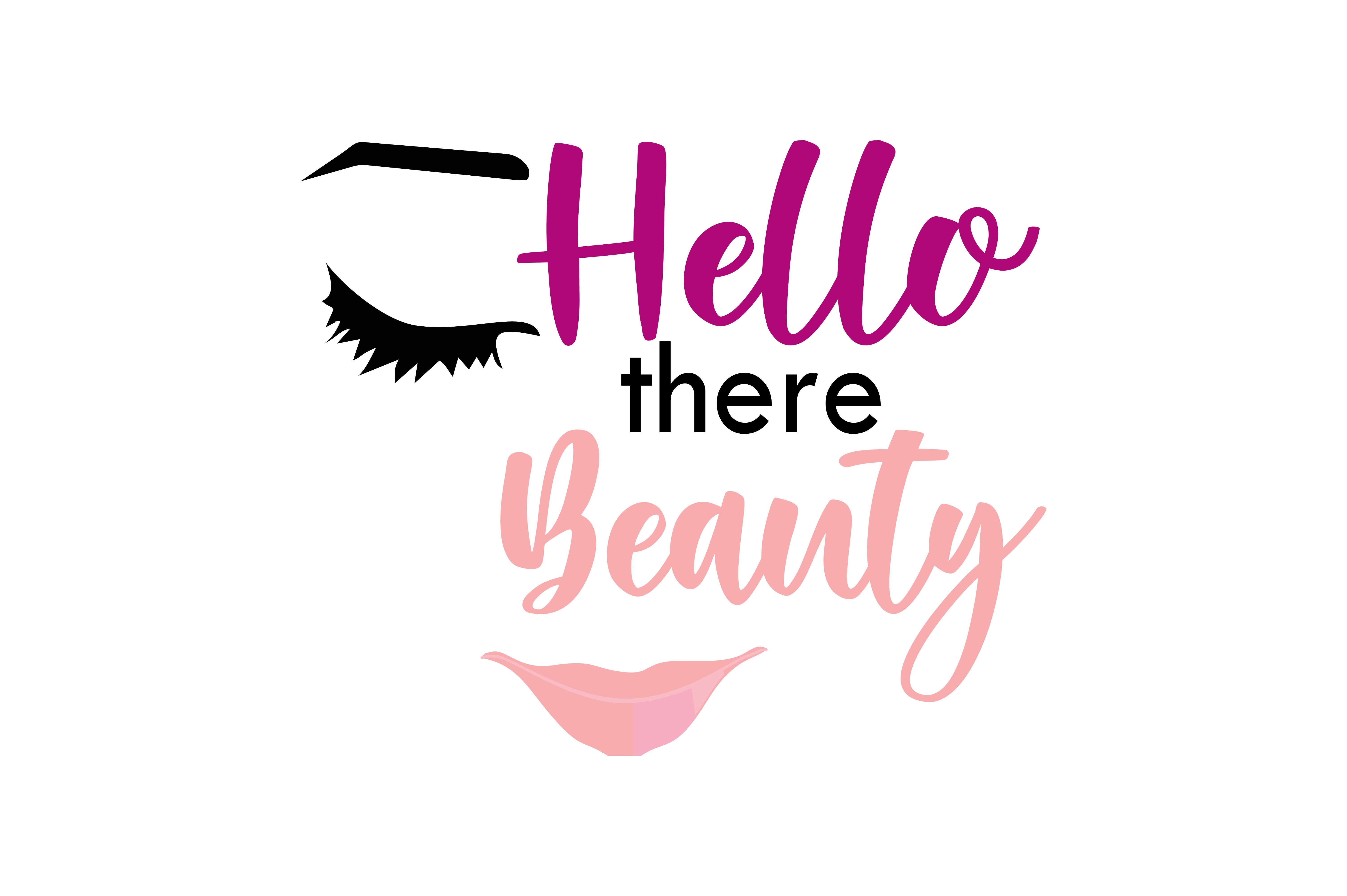 Hello There Beauty Quote Svg Cut