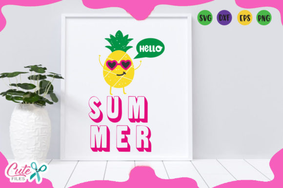 Download Free Hello Summer Graphic By Cute Files Creative Fabrica for Cricut Explore, Silhouette and other cutting machines.
