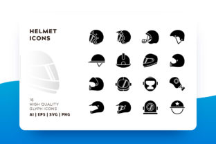 Helmet Icon Pack Graphic By Goodware.Std