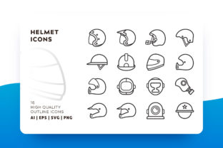 Helmet Outline Icon Pack Graphic By Goodware.Std