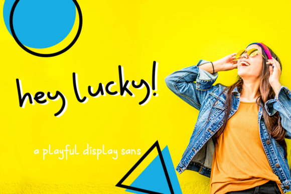Print on Demand: Hey Lucky! Display Font By CreatypeStudio