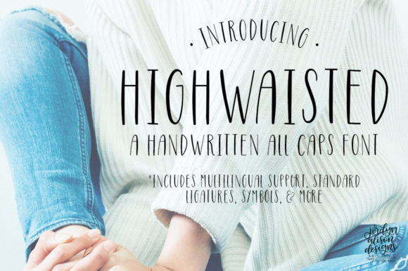 Print on Demand: Highwaisted Sans Serif Font By jordynalisondesigns