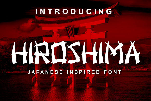 Print on Demand: Hiroshima Decorative Font By vladimirnikolic