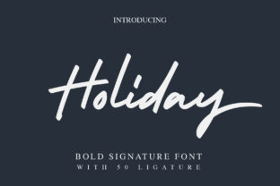 Holiday Font By alphArt