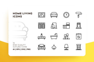 Home Living Icon Pack Graphic By Goodware.Std