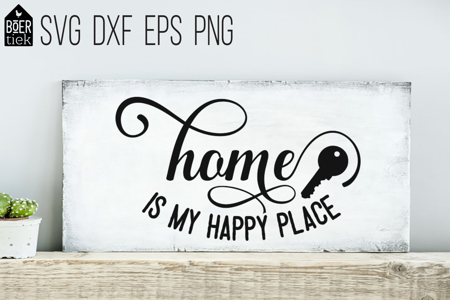 Download Free Home Is My Happy Place Graphic By Boertiek Creative Fabrica for Cricut Explore, Silhouette and other cutting machines.