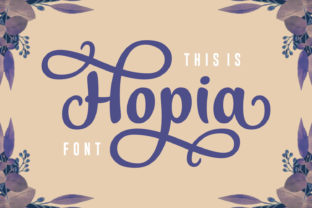 Hopia Font By Situjuh