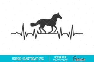 Download Free Horse Heartbeat Graphic By Pinoyartkreatib Creative Fabrica for Cricut Explore, Silhouette and other cutting machines.