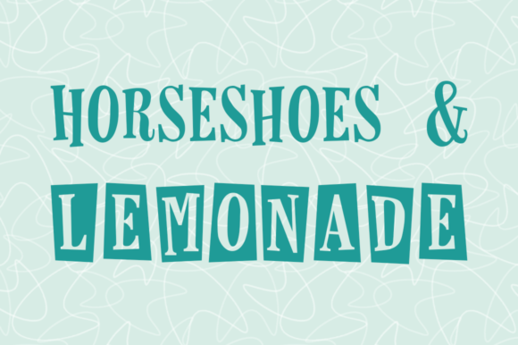 Print on Demand: Horseshoes & Lemonade Serif Font By laurenashpole