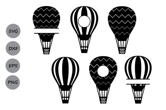 Download Free Hot Air Balloon Monogram Svg Graphic By Cosmosfineart Creative Fabrica for Cricut Explore, Silhouette and other cutting machines.