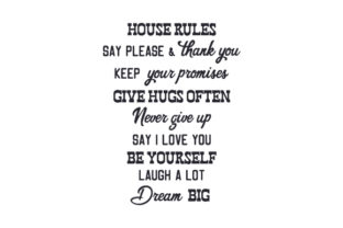 House Rules Home Craft Cut File By Creative Fabrica Crafts