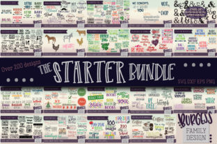 Download Free Huge Starter Bundle Graphic By Burgessfamilydesign Creative for Cricut Explore, Silhouette and other cutting machines.