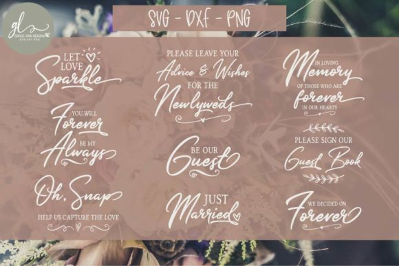 Huge Wedding Sign Bundle Graphic Crafts By GraceLynnDesigns