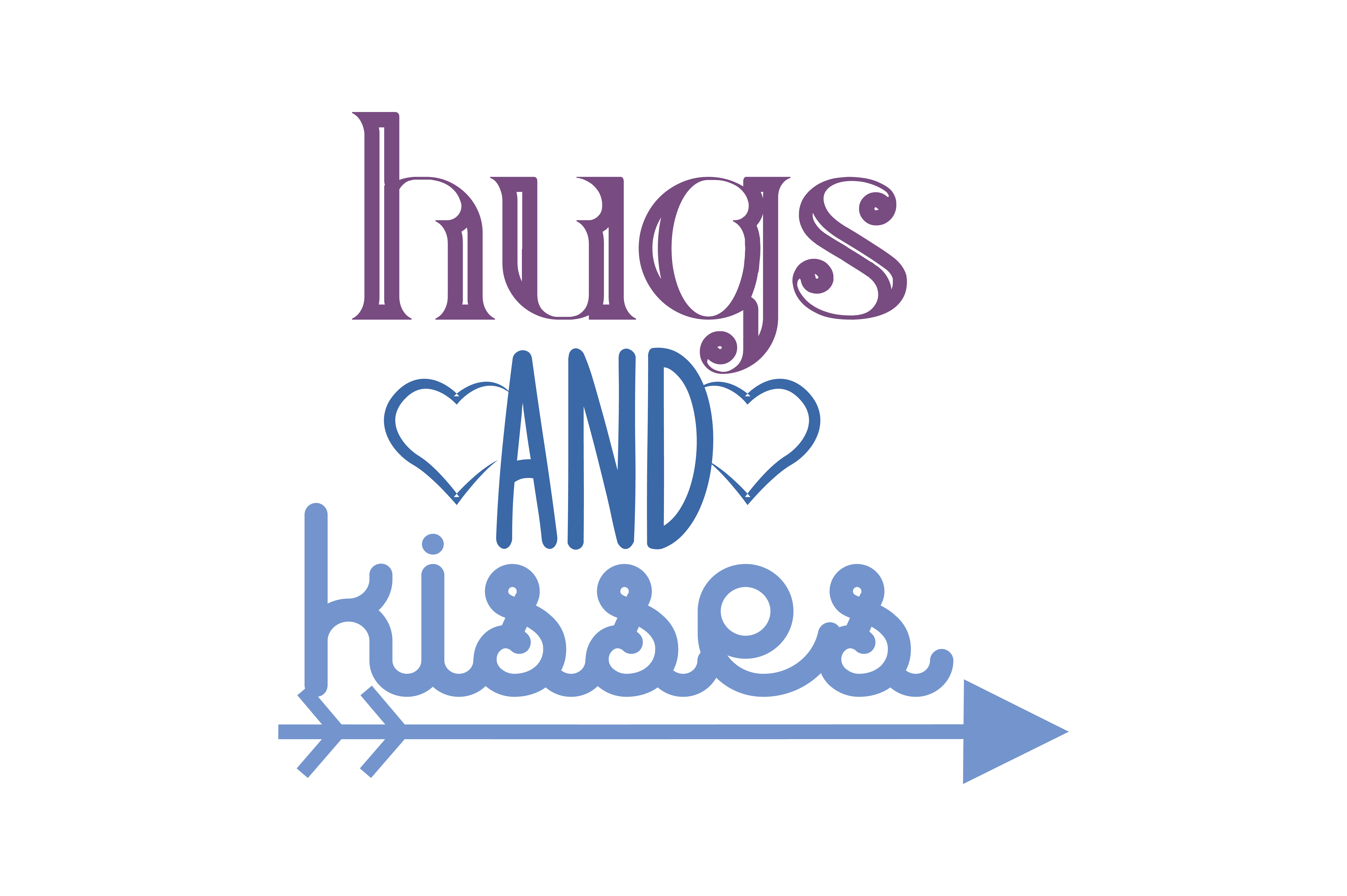Download Free Hugs And Kisses Quote Svg Cut Grafik Von Thelucky Creative Fabrica for Cricut Explore, Silhouette and other cutting machines.