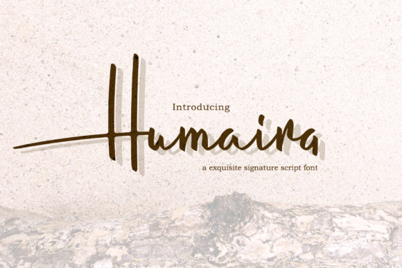 Print on Demand: Humaira Script Script & Handwritten Font By semuthitam