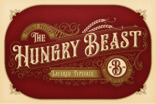 Hungry Beast Family Font By bombastype