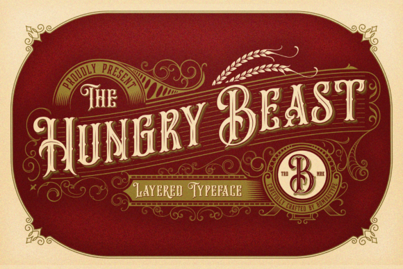 Hungry Beast Family Display Font By bombastype