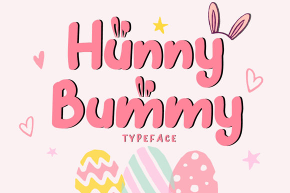 Hunny Bummy Display Font By dmletter31