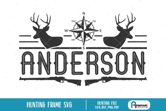 Hunting Split Frame  Graphic Crafts By Pinoyartkreatib