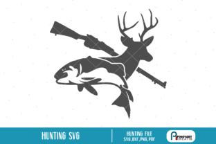 Download Free Hunting Graphic By Pinoyartkreatib Creative Fabrica for Cricut Explore, Silhouette and other cutting machines.