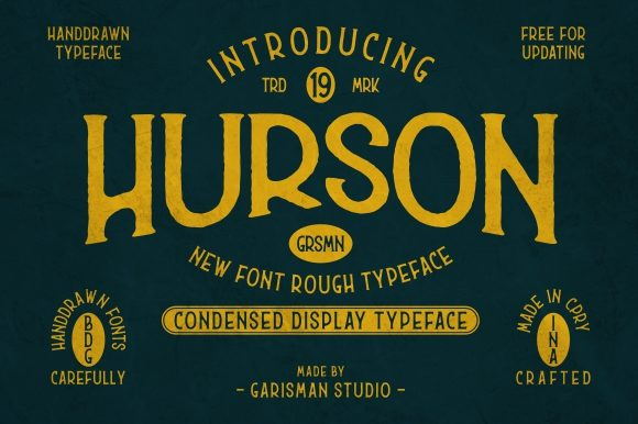 Print on Demand: Hurson Display Fuente Por Garisman Studio