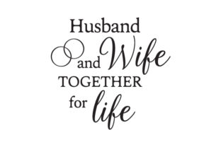 Husband and Wife, Together for Life Craft Design By Creative Fabrica Crafts