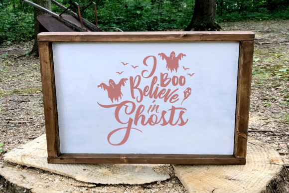 I Boo Believe in Ghosts Halloween SVG Graphic By summersSVG Image 1
