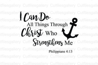 Download Free I Can Do All Things Through Christ Svg Graphic By SVG Cut Files