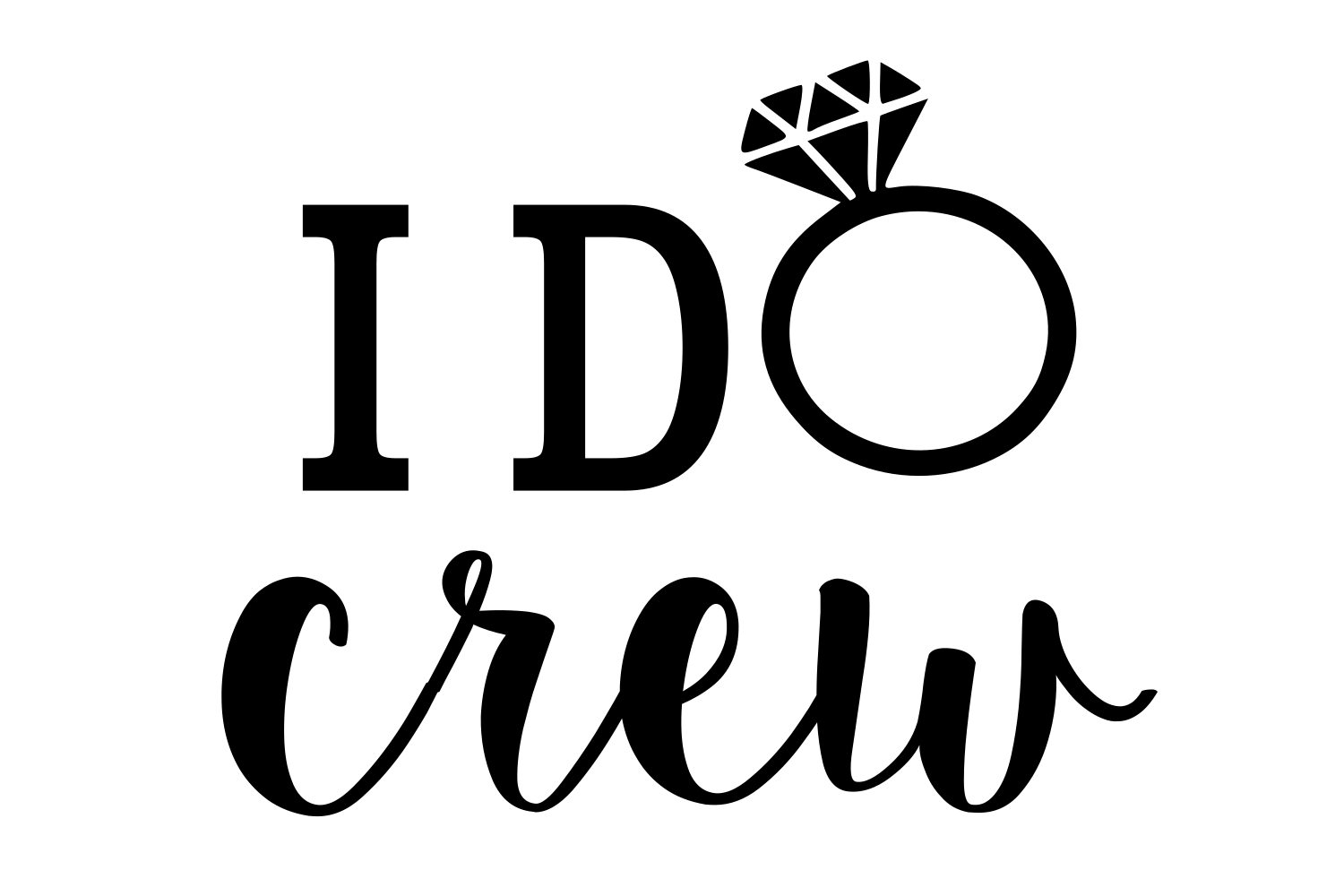Download Free I Do Crew Digital Svg File Graphic By Auntie Inappropriate for Cricut Explore, Silhouette and other cutting machines.