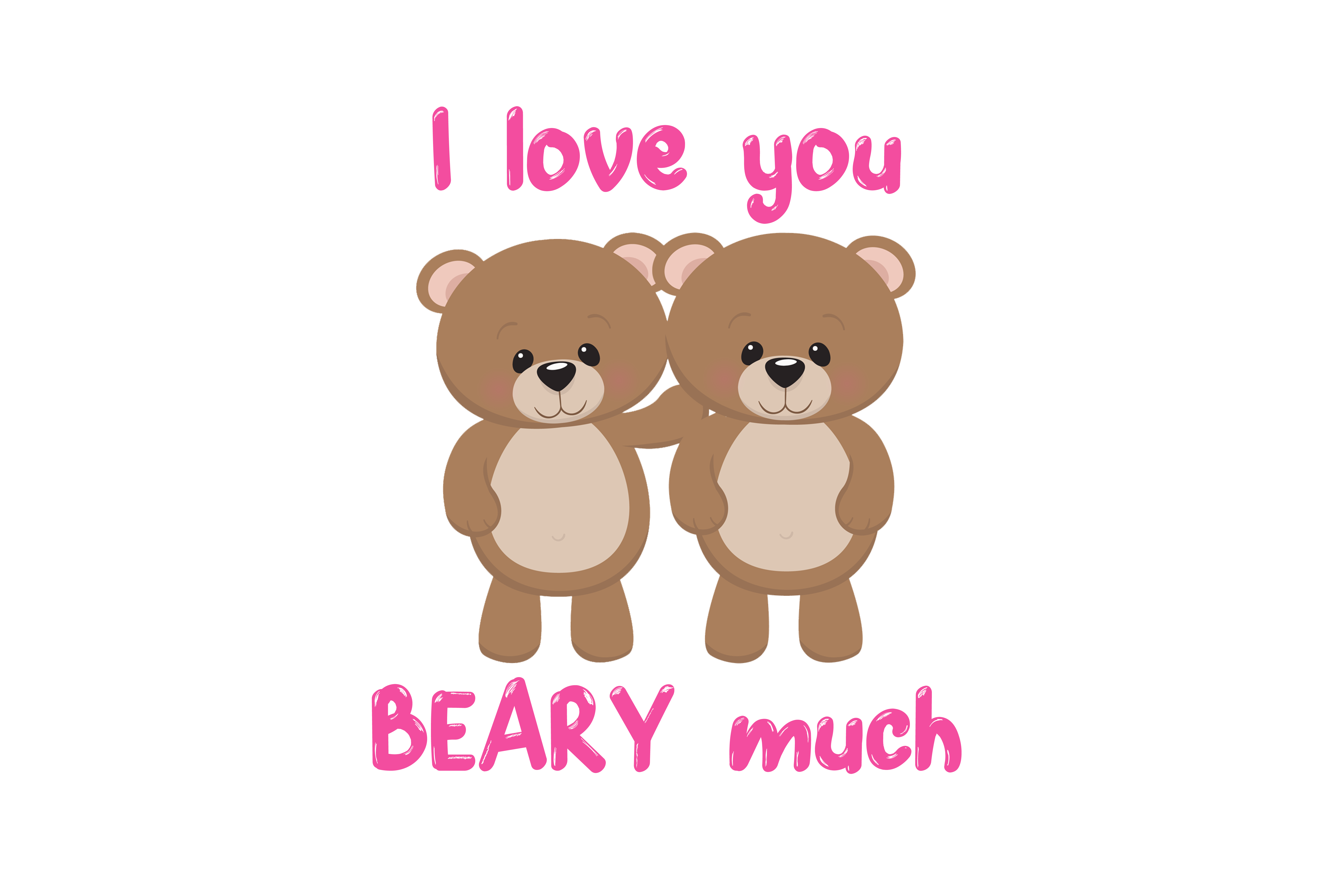 Download Free I Love You Beary Much Graphic By Mamamadedesigns Creative Fabrica for Cricut Explore, Silhouette and other cutting machines.