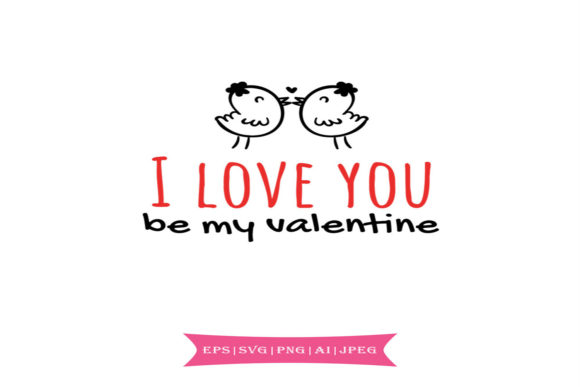 Print on Demand: I Love You Valentines Day Svg Graphic Crafts By summersSVG
