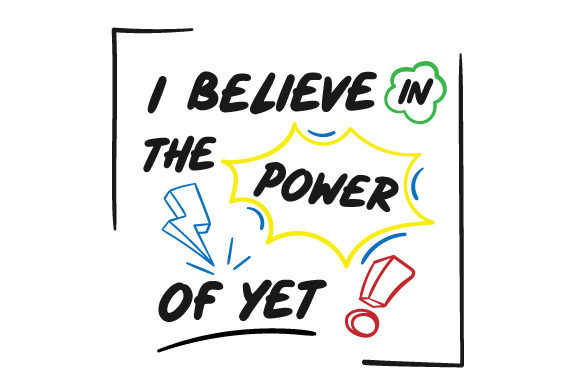 Download Free I Believe In The Power Of Yet Svg Cut File By Creative Fabrica for Cricut Explore, Silhouette and other cutting machines.