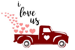 Download Free I Love Us Red Truck Digital Svg Graphic By Auntie Inappropriate for Cricut Explore, Silhouette and other cutting machines.