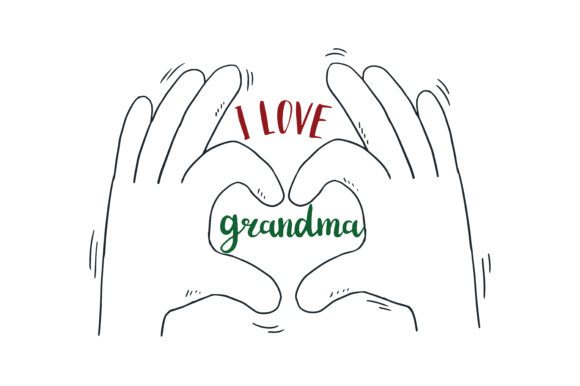 Download I Love Grandma Quote SVG Cut (Graphic) by TheLucky ...