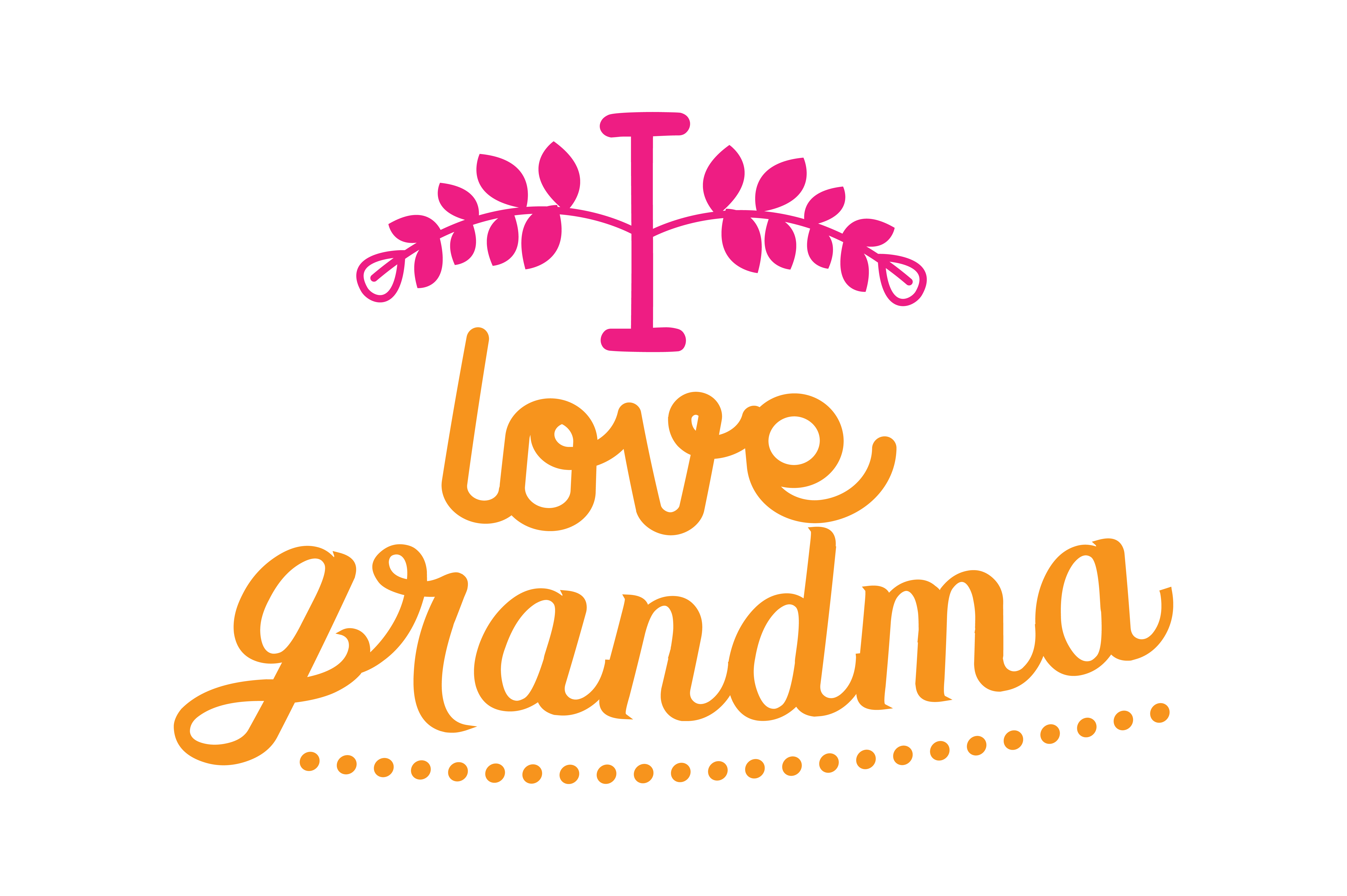 Download Free I Love Grandma Quote Svg Cut Graphic By Thelucky Creative Fabrica for Cricut Explore, Silhouette and other cutting machines.