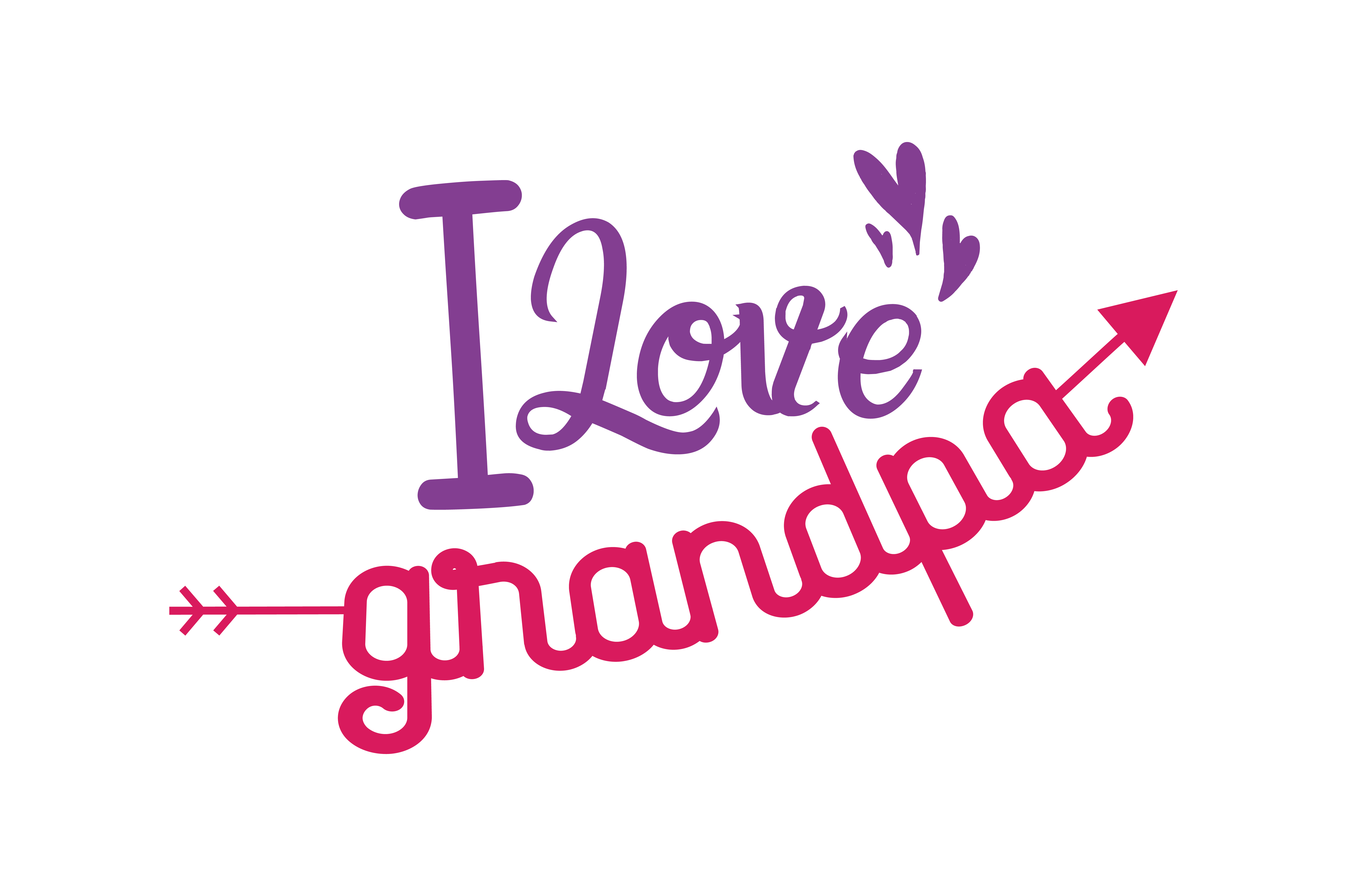 I Love Grandpa Quote Svg Cut Graphic By Thelucky Creative Fabrica