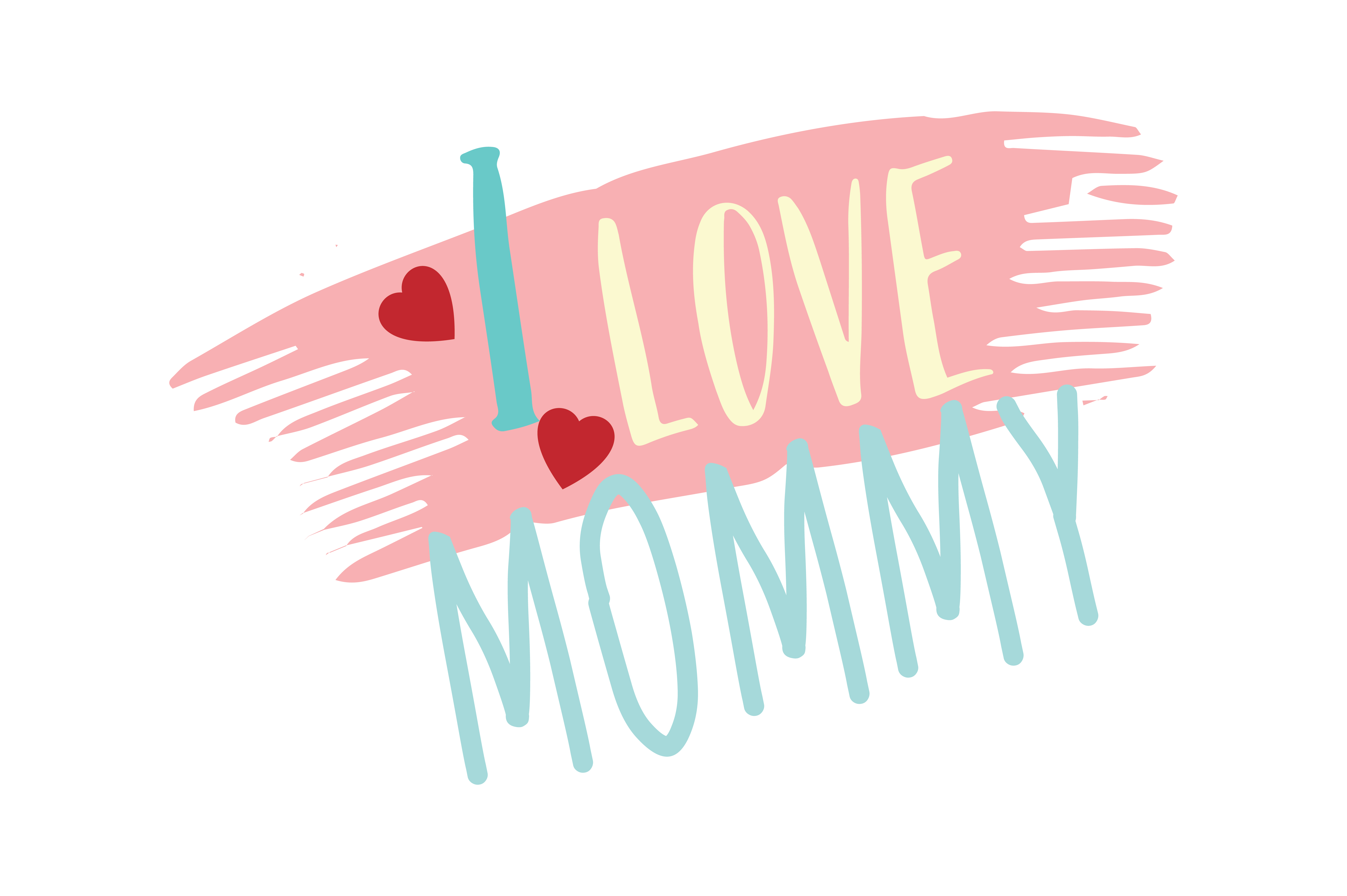 Download Free I Love Mommy Quote Svg Cut Graphic By Thelucky Creative Fabrica for Cricut Explore, Silhouette and other cutting machines.