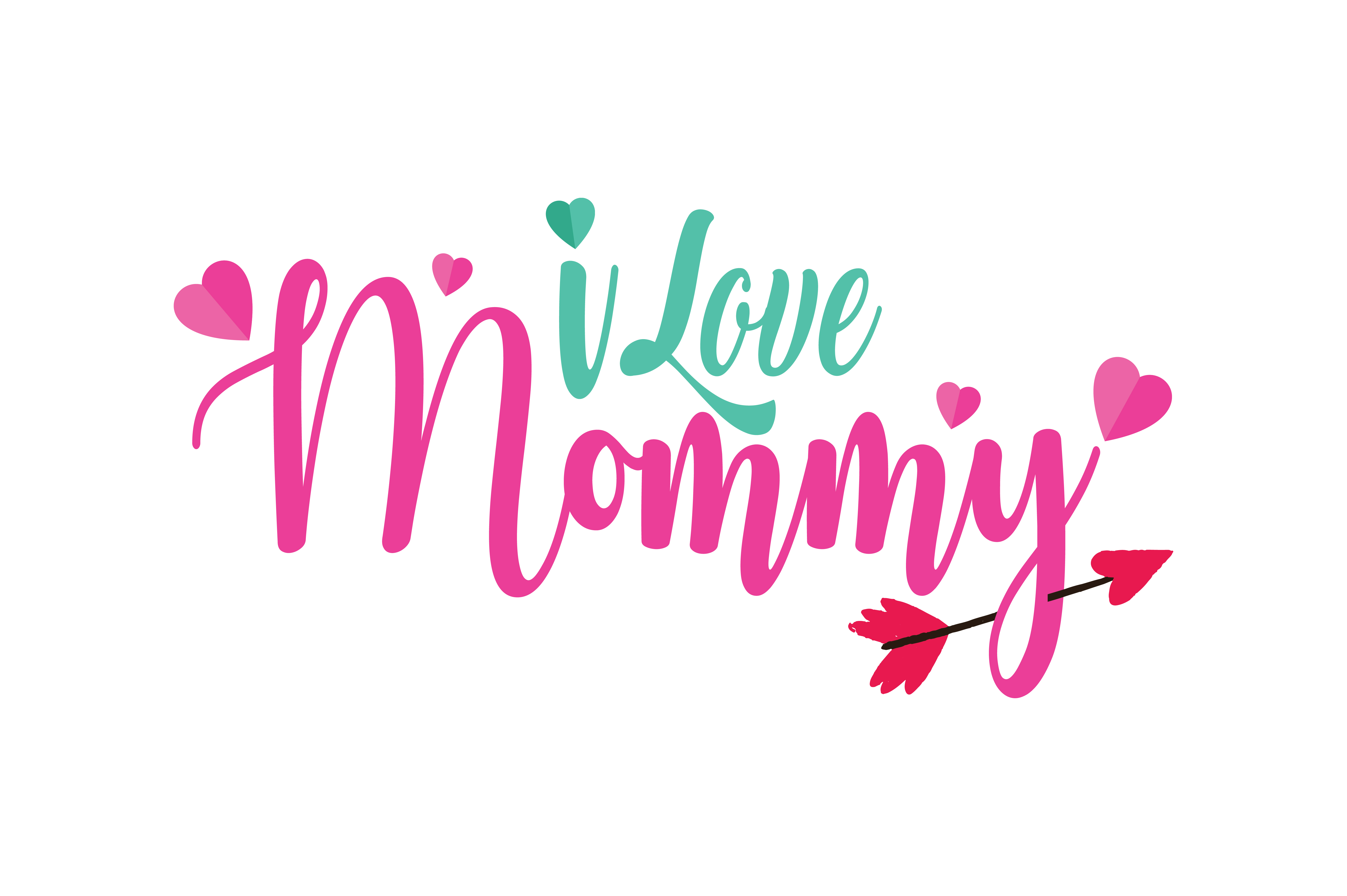 I Love Mommy Quote Svg Cut Graphic By Thelucky Creative Fabrica