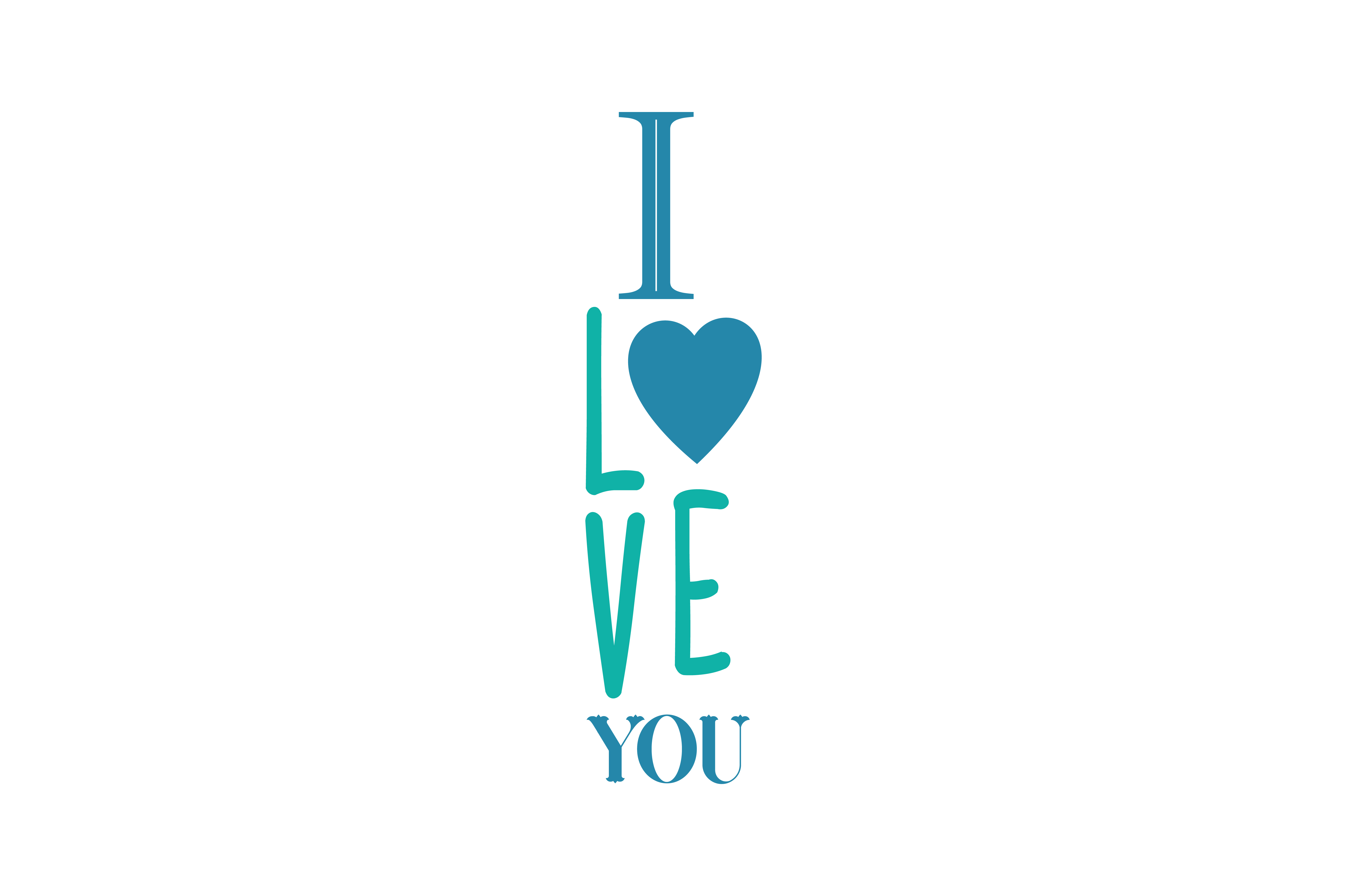 Download Free I Love You Quote Svg Cut Graphic By Thelucky Creative Fabrica for Cricut Explore, Silhouette and other cutting machines.