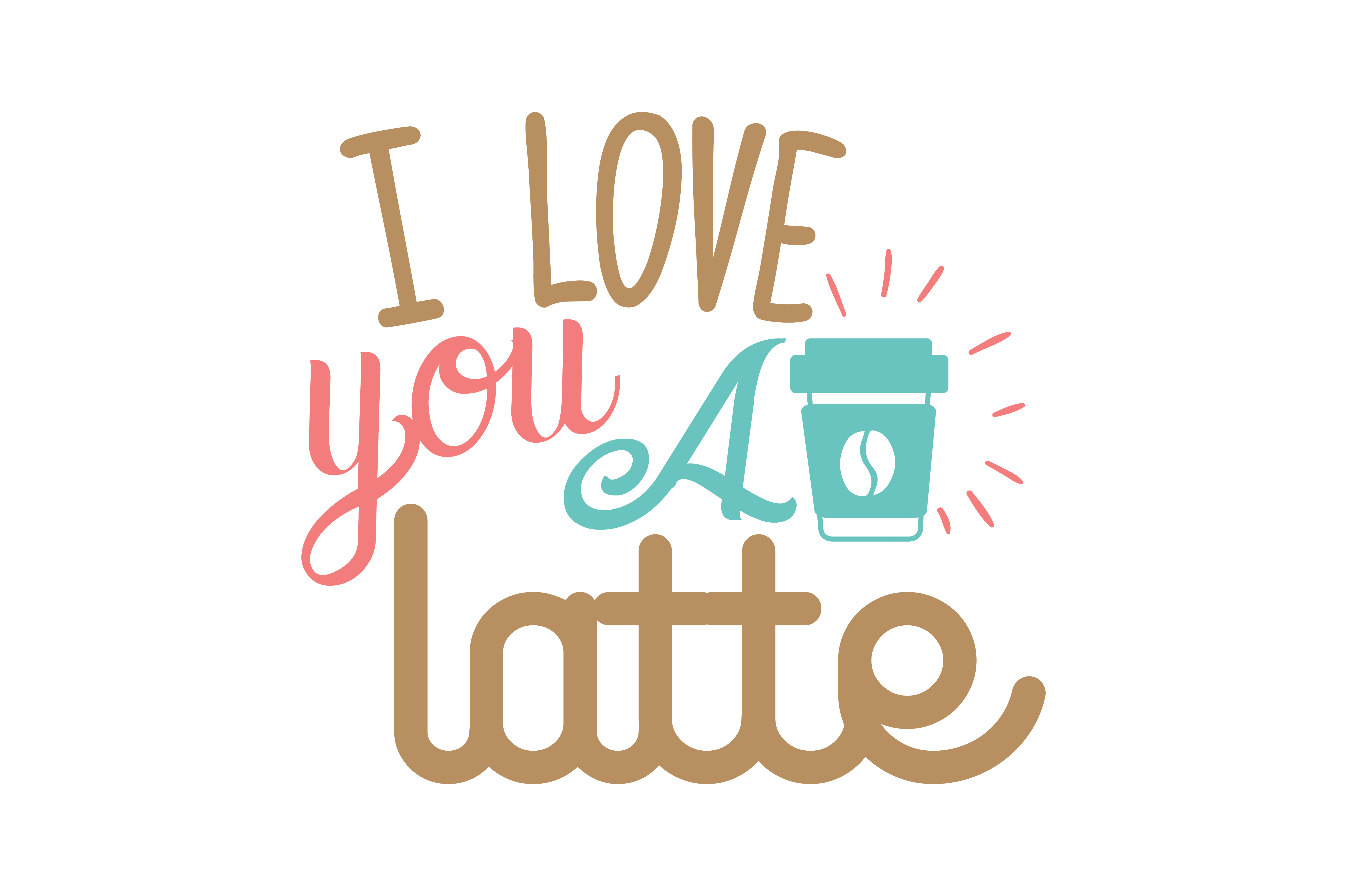Download Free I Love You A Latte Quote Svg Cut Grafico Por Thelucky Creative for Cricut Explore, Silhouette and other cutting machines.