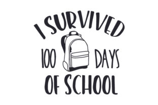 I Survived 100 Days of School Craft Design By Creative Fabrica Crafts