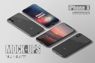 IPhone X Isometric Mockup Gráfico Por graphiccrew