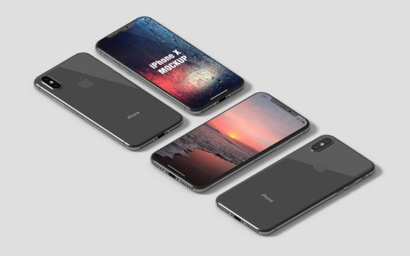 IPhone X Isometric Mockup Graphic By graphiccrew Image 6