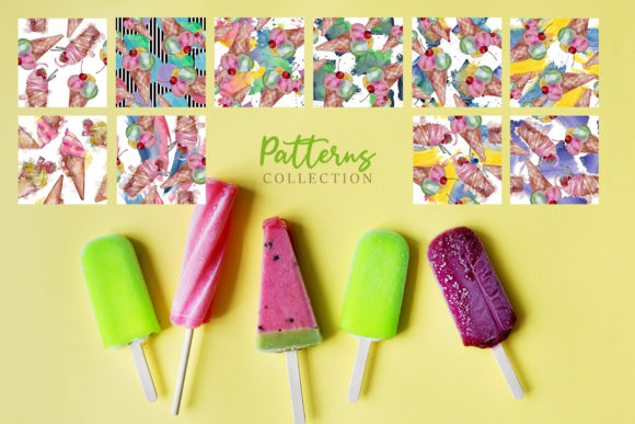 Download Free Ice Cream Watercolor Graphic By Mystocks Creative Fabrica for Cricut Explore, Silhouette and other cutting machines.