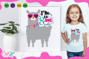 Download Free Im 8th And Cute Llama Birthday Graphic By Cute Files Creative for Cricut Explore, Silhouette and other cutting machines.