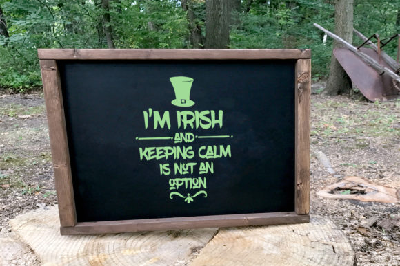I'm Irish and Keeping Calm is Not an Option Gráfico Ilustraciones Por summersSVG