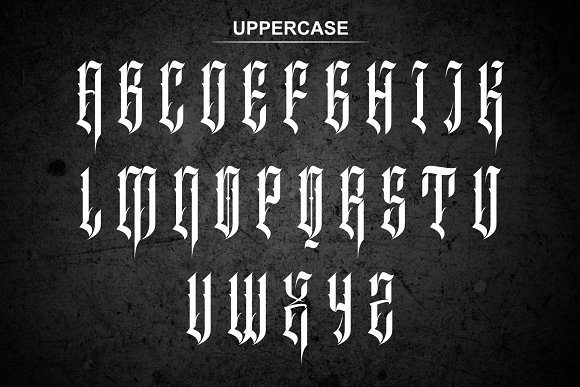Print on Demand: Inhumans Blackletter Font By EN86-21 - Image 5