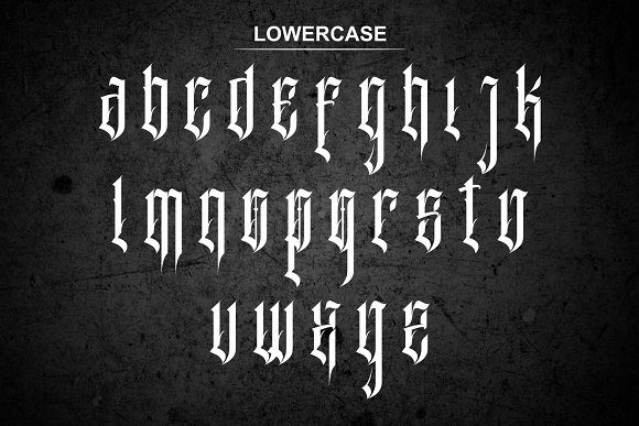 Print on Demand: Inhumans Blackletter Font By EN86-21 - Image 6