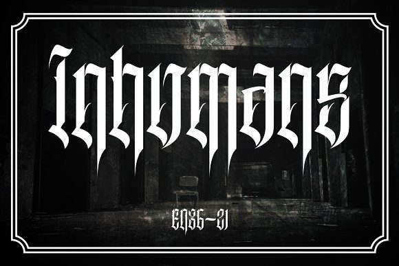 Print on Demand: Inhumans Blackletter Font By EN86-21