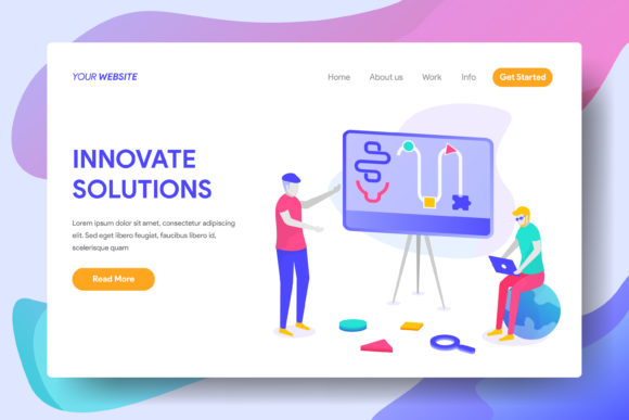 Innovate Solutions for Business Graphic Landing Page Templates By Twiri